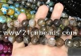 CAA3411 15 inches 12mm faceted round agate beads wholesale
