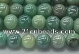 CAA3515 15.5 inches 4mm round AB-color grass agate beads wholesale