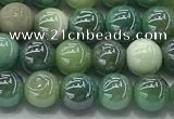 CAA3516 15.5 inches 6mm round AB-color grass agate beads wholesale