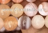 CAA3532 15.5 inches 6mm round pink botswana agate beads