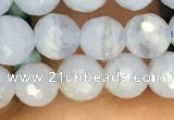 CAA3560 15.5 inches 6mm faceted round blue lace agate beads