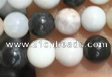 CAA3575 15.5 inches 4mm round parral dendrite agate beads