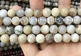 CAA3585 15.5 inches 12mm round ocean fossil agate beads wholesale