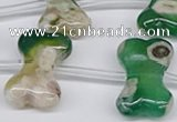 CAA3614 15.5 inches 18*25mm - 20*30mm bone sakura agate beads