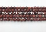 CAG3629 15.5 inches 6mm faceted round Portuguese agate beads
