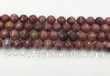 CAG3630 15.5 inches 8mm faceted round Portuguese agate beads