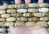 CAA3720 15.5 inches 9*22mm - 11*25mm rice chrysanthemum agate beads