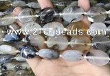 CAA3741 15.5 inches 18*25mm oval Montana agate beads wholesale
