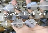 CAA3745 15.5 inches 22*30mm flat teardrop Montana agate beads