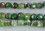 CAA375 15.5 inches 8mm faceted round fire crackle agate beads