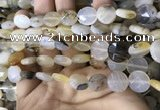 CAA3830 15.5 inches 10mm faceted coin montana agate beads