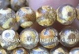 CAA3846 15 inches 6mm round tibetan agate beads wholesale