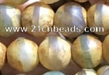 CAA3874 15 inches 8mm round tibetan agate beads wholesale