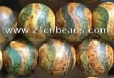 CAA3881 15 inches 8mm round tibetan agate beads wholesale