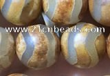 CAA3894 15 inches 10mm round tibetan agate beads wholesale