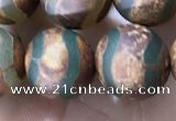 CAA3897 15 inches 10mm round tibetan agate beads wholesale