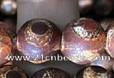 CAA3907 15 inches 10mm round tibetan agate beads wholesale