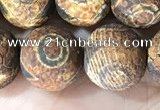 CAA3924 15 inches 12mm round tibetan agate beads wholesale