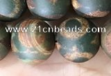 CAA3926 15 inches 12mm round tibetan agate beads wholesale