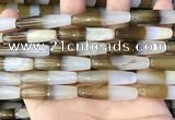 CAA3940 15.5 inches 8*34mm rice Madagascar agate beads wholesale