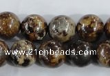 CAA397 15.5 inches 16mm round fire crackle agate beads wholesale