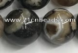 CAA3975 15.5 inches 16mm round sakura agate gemstone beads