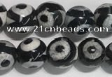 CAA3990 15 inches 6mm round tibetan agate beads wholesale