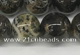 CAA4038 15.5 inches 14mm round chrysanthemum agate beads