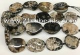 CAA4046 15.5 inches 25*35mm - 30*40mm freeform sakura agate beads