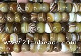 CAA4148 15.5 inches 10*13mm rondelle line agate beads wholesale