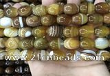 CAA4160 15.5 inches 12*16mm rice line agate beads wholesale