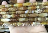 CAA4165 15.5 inches 8*20mm rice line agate beads wholesale