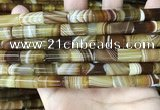 CAA4179 15.5 inches 8*16mm tube line agate beads wholesale