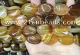 CAA4215 15.5 inches 18*25mm oval line agate beads wholesale
