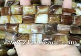CAA4226 15.5 inches 13*18mm rectangle line agate beads wholesale