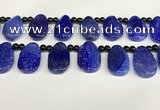 CAA4365 Top drilled 20*30mm freeform dragon veins agate beads