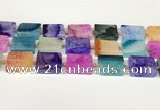 CAA4427 15.5 inches 15*20mm rectangle agate druzy geode beads