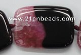 CAA451 15.5 inches 30*40mm rectangle agate druzy geode  beads