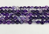CAA4581 15.5 inches 10mm flat round banded agate beads wholesale