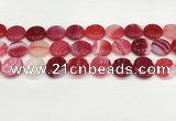 CAA4615 15.5 inches 18mm flat round banded agate beads wholesale
