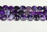 CAA4621 15.5 inches 20mm flat round banded agate beads wholesale