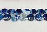 CAA4633 15.5 inches 25mm flat round banded agate beads wholesale