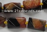 CAA466 15.5 inches 16*16*20mm pyramid agate druzy geode beads