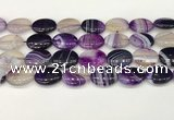 CAA4670 15.5 inches 15*20mm oval banded agate beads wholesale
