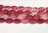 CAA4672 15.5 inches 15*20mm oval banded agate beads wholesale
