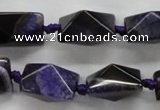 CAA468 15.5 inches 16*16*20mm pyramid agate druzy geode beads