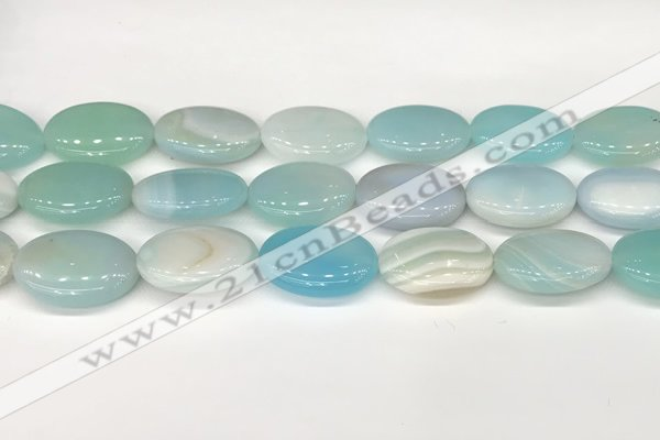 CAA4681 15.5 inches 18*25mm oval banded agate beads wholesale