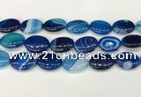 CAA4682 15.5 inches 18*25mm oval banded agate beads wholesale