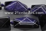 CAA469 15.5 inches 19*19*30mm pyramid agate druzy geode beads