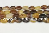 CAA4702 15.5 inches 13*18mm flat teardrop banded agate beads wholesale